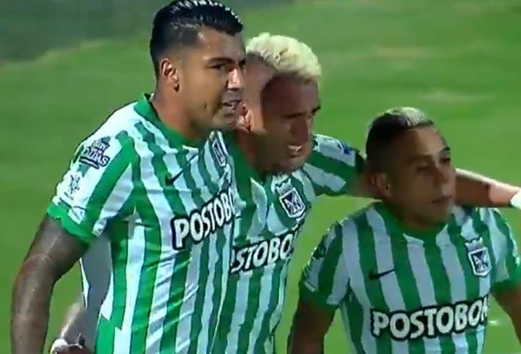 Primer gol de Atlético Nacional en la era Guimaraes: ¡Néyder Moreno!