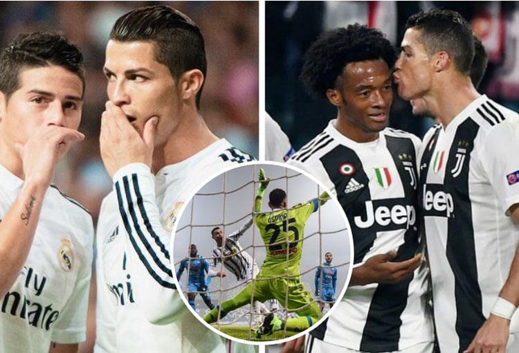 James, Cuadrado y Ospina en los 760 goles de Cristiano Ronaldo