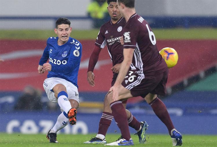 ¿Hace cuánto no marcaba James Rodríguez con el Everton?