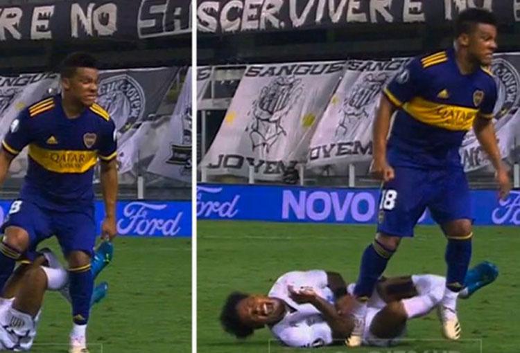 Todas las críticas a Frank Fabra por su pisotón en Copa Libertadores