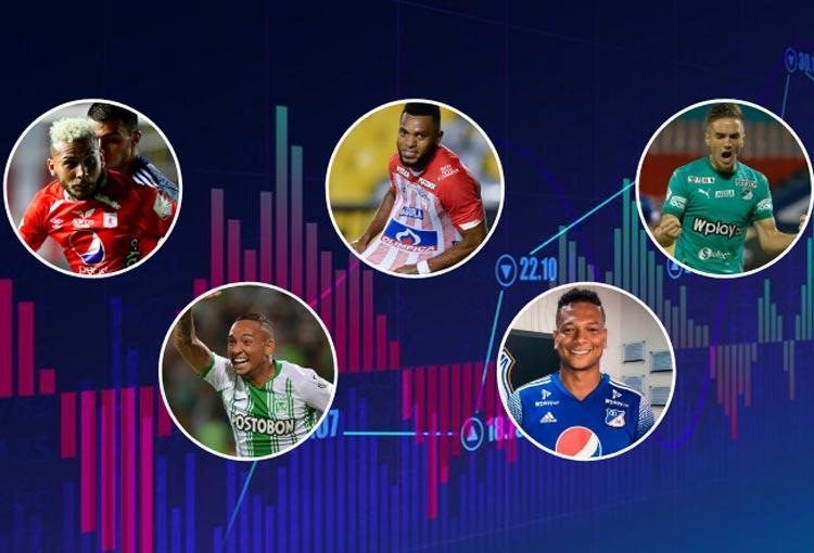 Top 10 de los futbolistas más caros de la Liga BetPlay