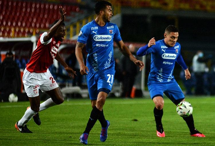 Deportivo Independiente Medellín, DIM, Liga BetPlay 2021-I, Independiente Santa Fe, Independiente Santa Fe 0-0 DIM