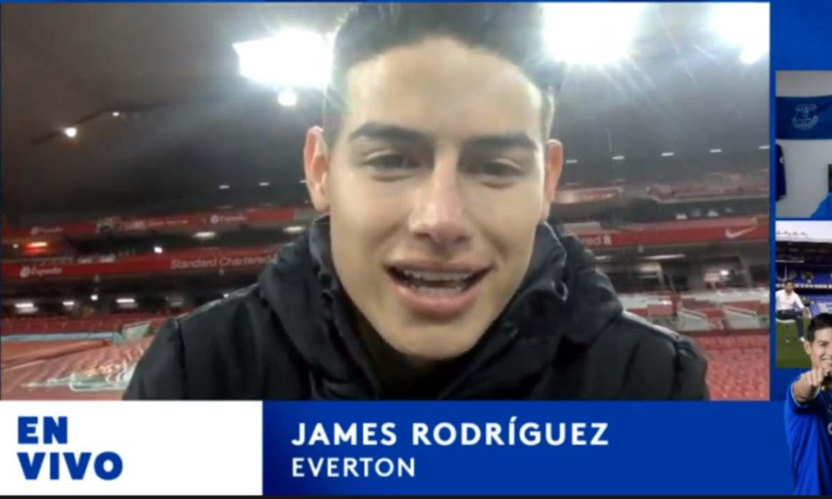 El mensaje de James Rodríguez luego de vencer al Liverpool