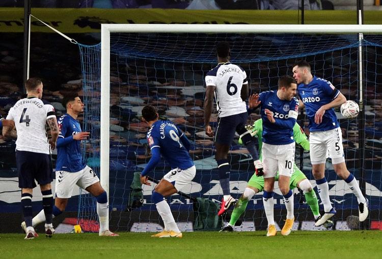 Everton FC, Tottenham Hotspur, FA Cup 2020-21, Dávinson Sánchez, Yerry Mina, James Rodríguez