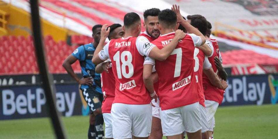 Formación titular de Santa Fe para enfrentar a Boyacá Chicó en la Liga BetPlay