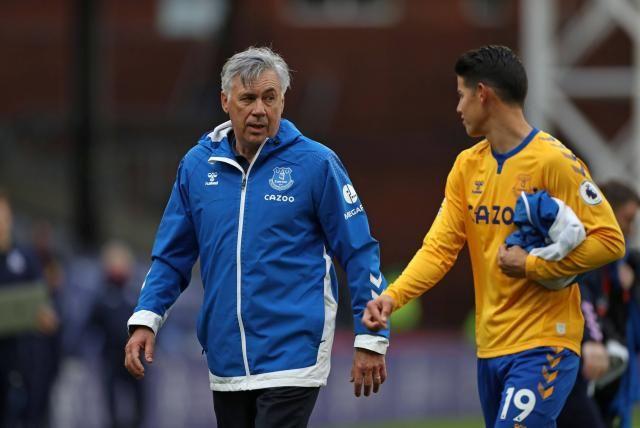 Ancelotti confesó por qué no jugó James contra el Leeds
