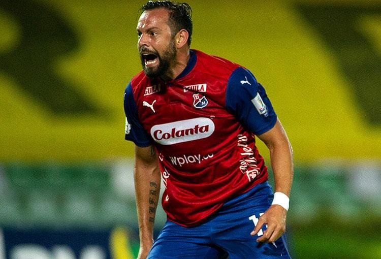 Matías Mier, Independiente Santa Fe, Deportivo Independiente Medellín, DIM, Liga BetPlay 2021-I, en vivo