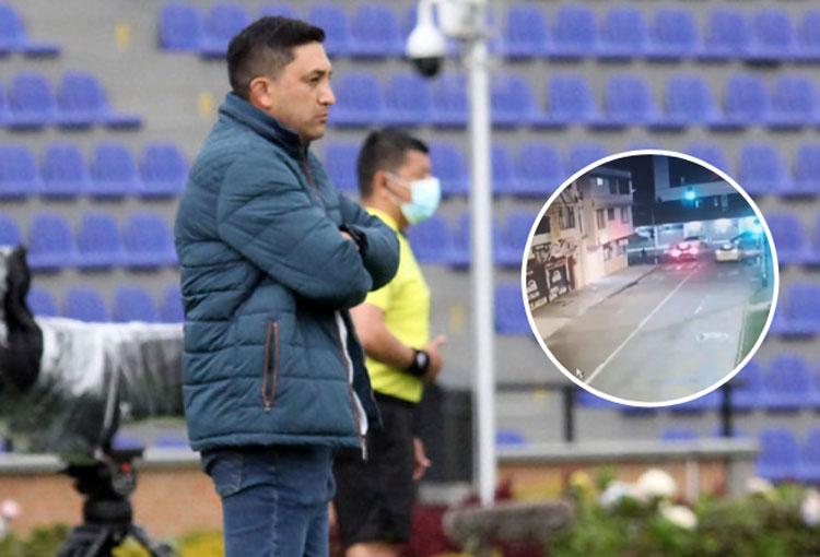 El accidente de tránsito que tuvo Diego Corredor, DT de Deportivo Pasto
