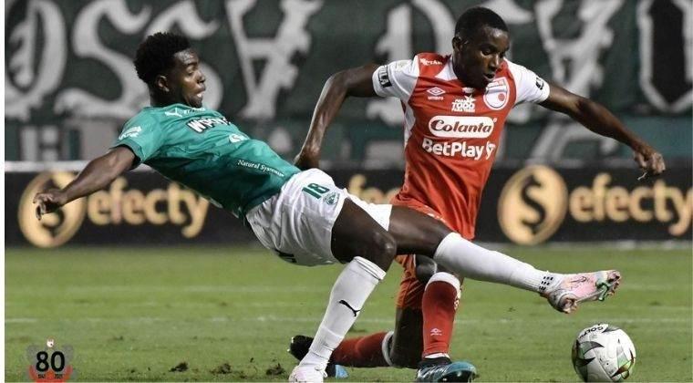 El VAR protagonizó el empate entre Deportivo Cali vs. Santa Fe por Liga BetPlay