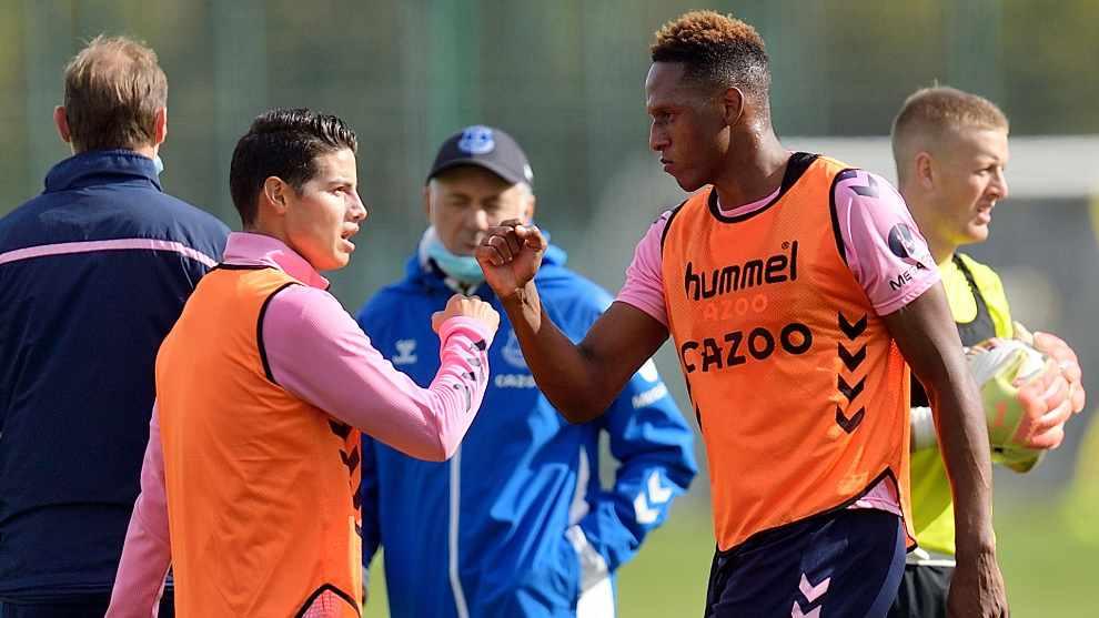 """James Rodríguez contó detalles de su relación con Yerry Mina en Everton: """"Es muy curioso"""""""
