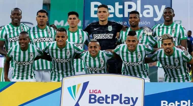 Formación titular de Atlético Nacional ante Boyacá Chicó en la Liga BetPlay 2021-I