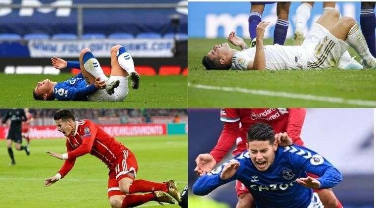Casi medio año de fútbol se ha perdido James Rodríguez por sus lesiones