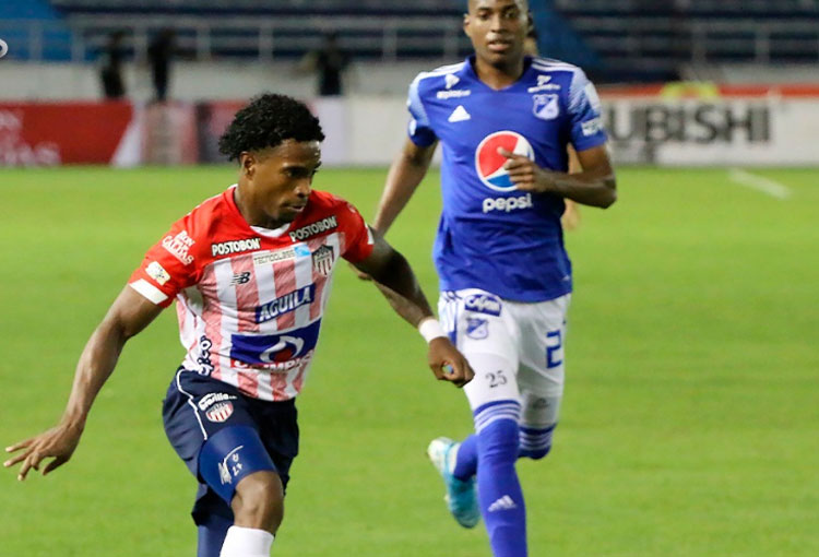Fabián Viáfara, partido número 40 con Junior y primer gol