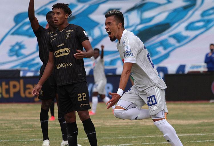 Fernando Uribe y su mensaje por el primer gol en el regreso a Millonarios