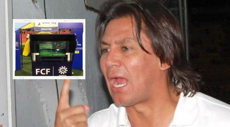 Eduardo Pimentel arremetió con groserías en contra del VAR que hubo en La Equidad vs. Chicó