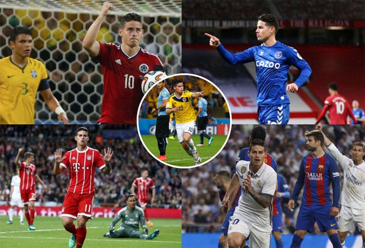 Top 5: los goles de James Rodríguez ante rivales más importantes