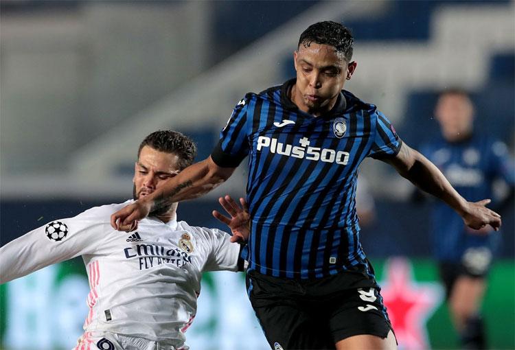 El partido de Luis Muriel y Duván Zapata con Atalanta ante Real Madrid