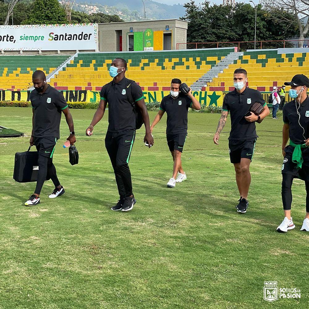 Formación de Atlético Nacional contra Atlético Bucaramanga en la Liga BetPlay 2021-I
