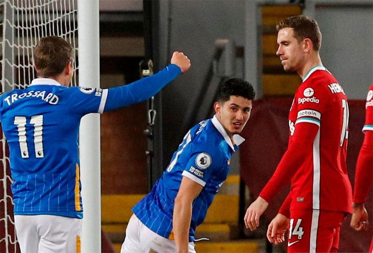 Primer gol de Steven Alzate en Premier League: ¡Al Liverpool de Klopp!