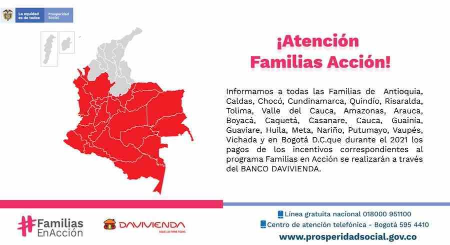 Consulte fecha y lugar de pago en Daviplata para Familias en Acción