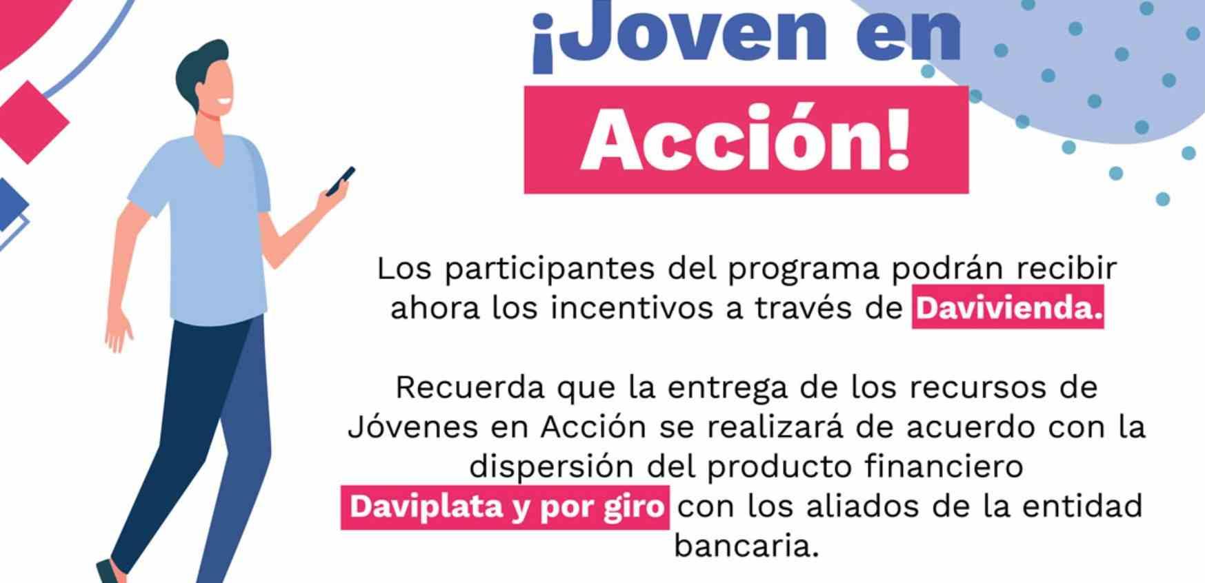 Daviplata y Davivienda pagan Jóvenes en Acción durante el 2021