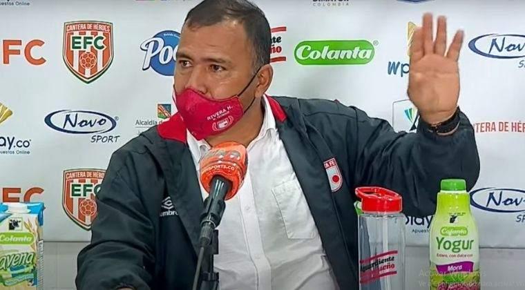 Harold Rivera y las 'calientes' declaraciones por el primer gol de Envigado ante Santa Fe