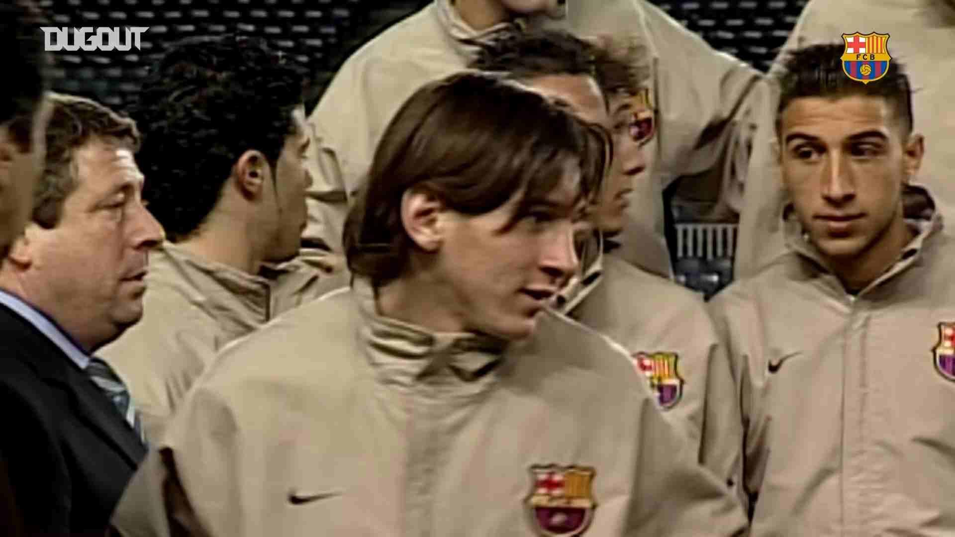 Inédito: Video de Lionel Messi, cuando estaba en La Masía