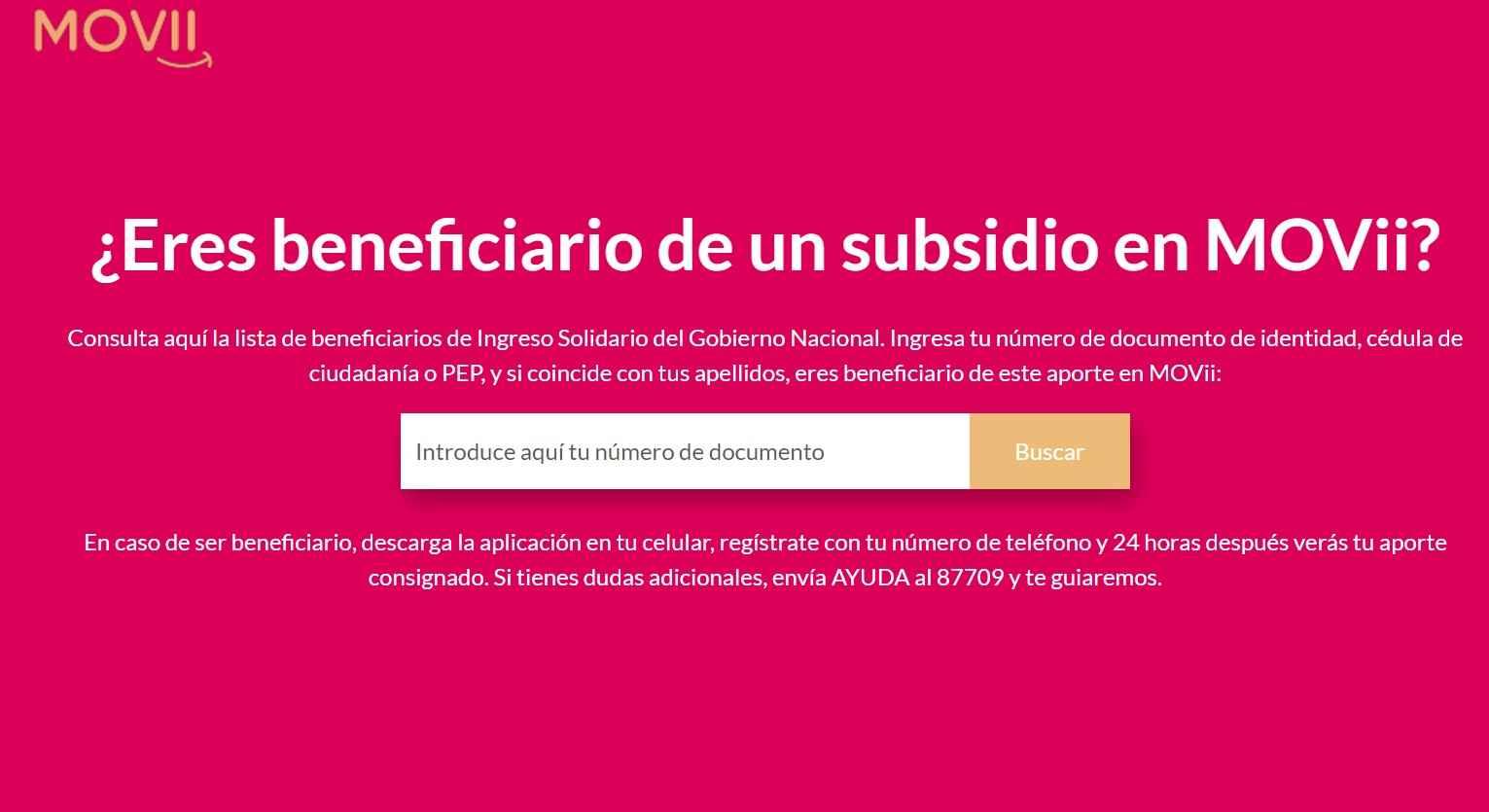 Ingreso Solidario: MOVii pagaría el giro 12 desde el 25 de marzo