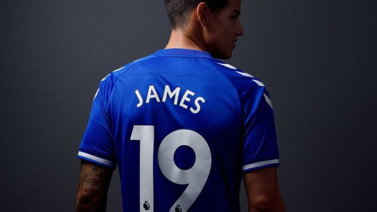 James Rodríguez disparó ventas de camisetas del Everton