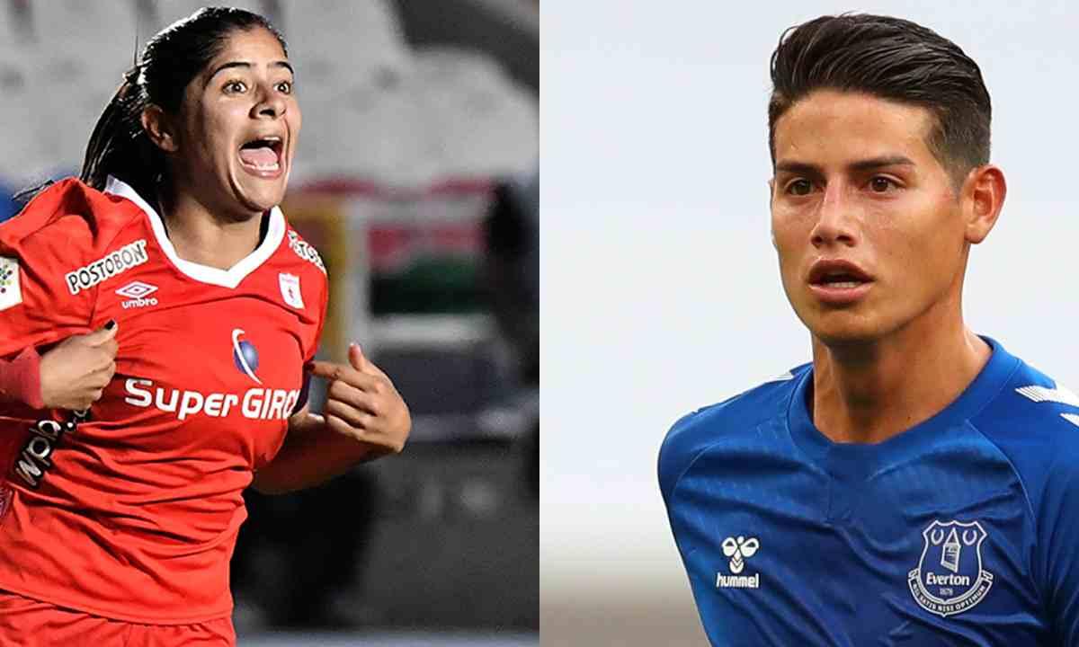 James Rodríguez y su apoyo al América de Cali en la Libertadores Femenina