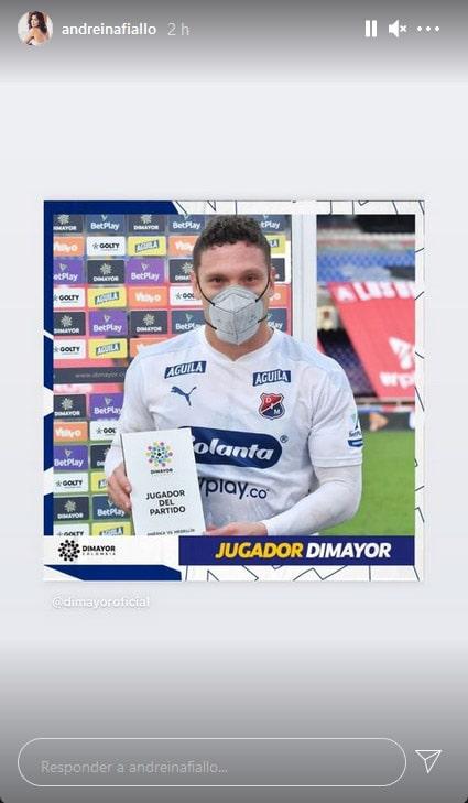 Javier Reina, Andreína Fiallo, DIM, Deportivo Independiente Medellín, América de Cali, Liga BetPlay 2021-I, Viralgol, dedicatoria (1)