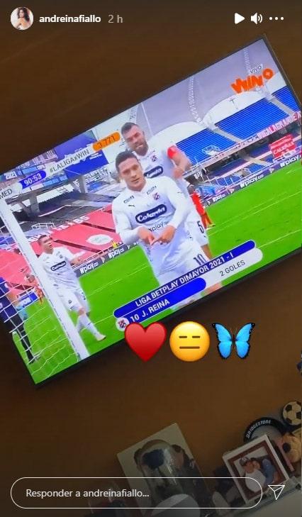 Javier Reina, Andreína Fiallo, DIM, Deportivo Independiente Medellín, América de Cali, Liga BetPlay 2021-I, Viralgol, dedicatoria (2)