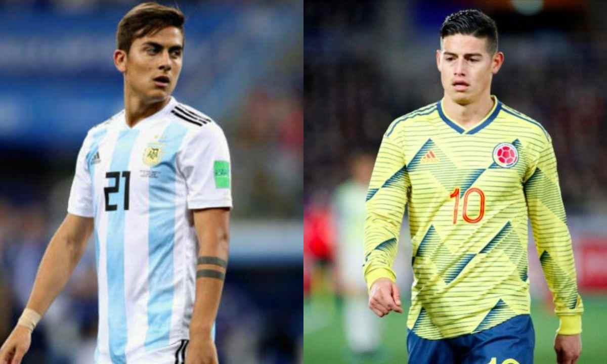 La charla entre James Rodríguez y Paulo Dybala, pensando en la Copa América
