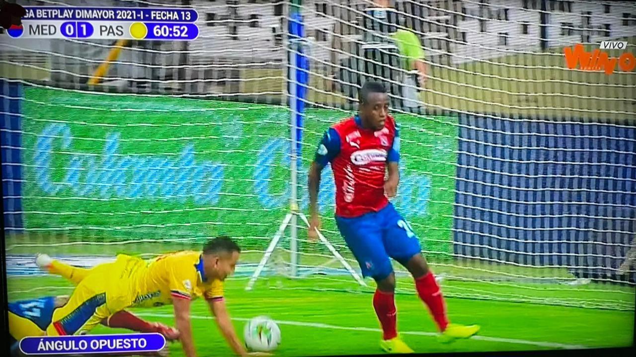 Increíble gol con la mano validado de Ray Vanegas con Deportivo Pasto al DIM
