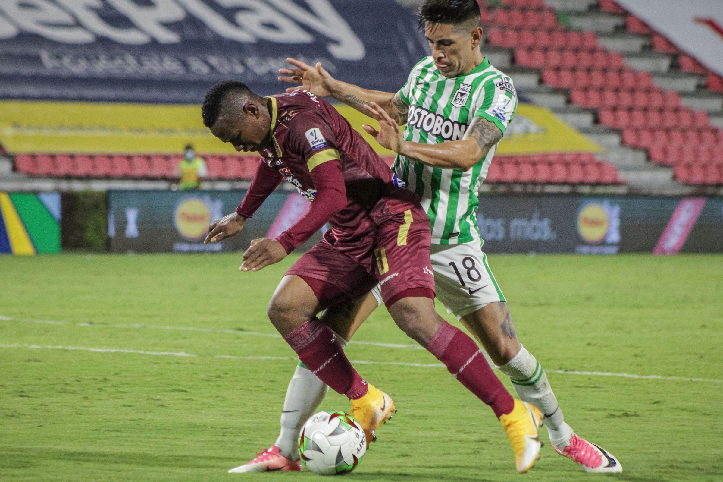¿Cómo está el historial de partidos entre Atlético Nacional y Deportes Tolima?