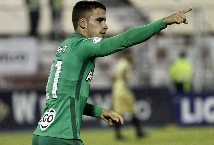 Tomás Ángel, Atlético Nacional, Junior FC, Liga BetPlay 2021-I, Águilas Doradas 1-1 Atlético Nacional, fecha 11