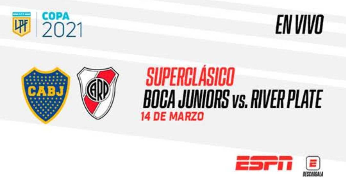 Ver en Colombia por televisión el Boca vs. River del 14 de marzo de 2021