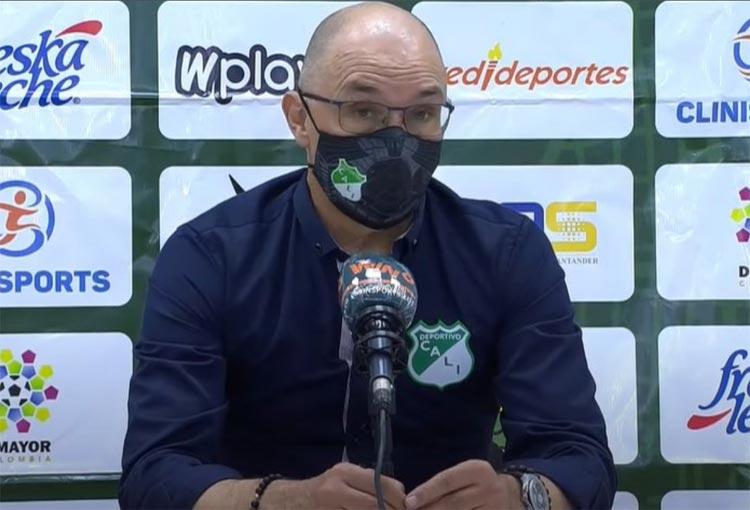 """DT de Deportivo Cali: """"Debemos tragar veneno, entrenar mejor y poner la mira en la clasificación"""""""