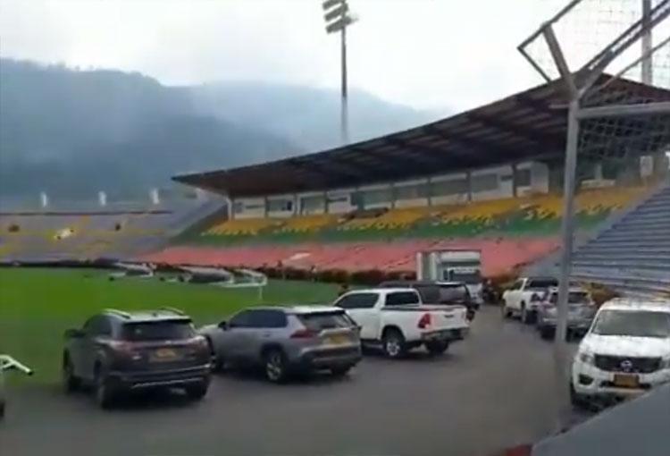 ¿Fiesta privada en el estadio Manuel Murillo Toro?
