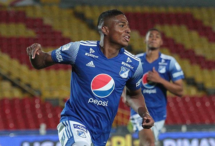 Émerson Rodríguez y su quinto gol con Millonarios