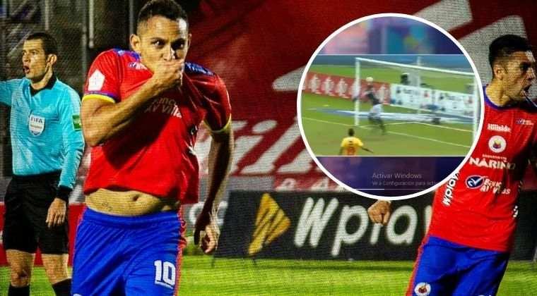 ¡Susto por el descenso! El 'blooper' del portero de Pereira para el primer gol de Pasto
