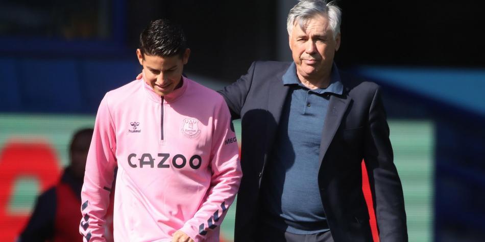 Carlo Ancelotti dio nuevas noticias sobre James Rodríguez: ¿Jugará ante Crystal Palace?