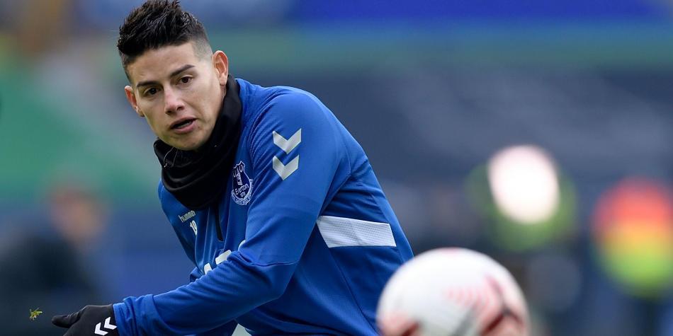 "Medios ingleses: ""Sin James Rodríguez, el Everton luce flojo"""