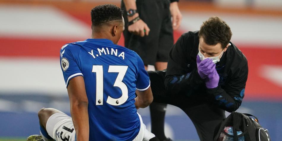 Ancelotti confirmó la lesión y el tiempo de recuperación de Yerry Mina con Everton
