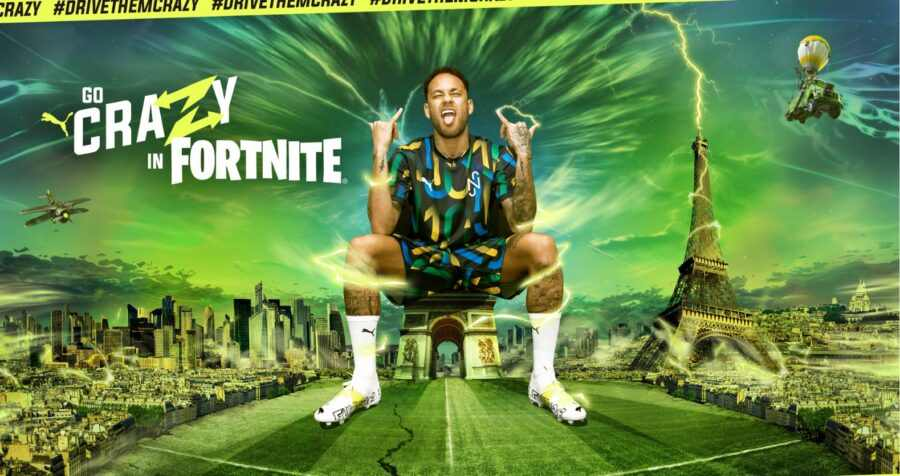 Así aprovecha Puma a Neymar en Fortnite