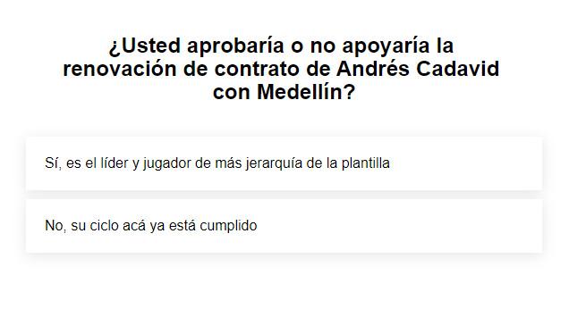 DIM: ¿Renovación de contrato a Andrés Cadavid o cambio de capitán en 2021-II?