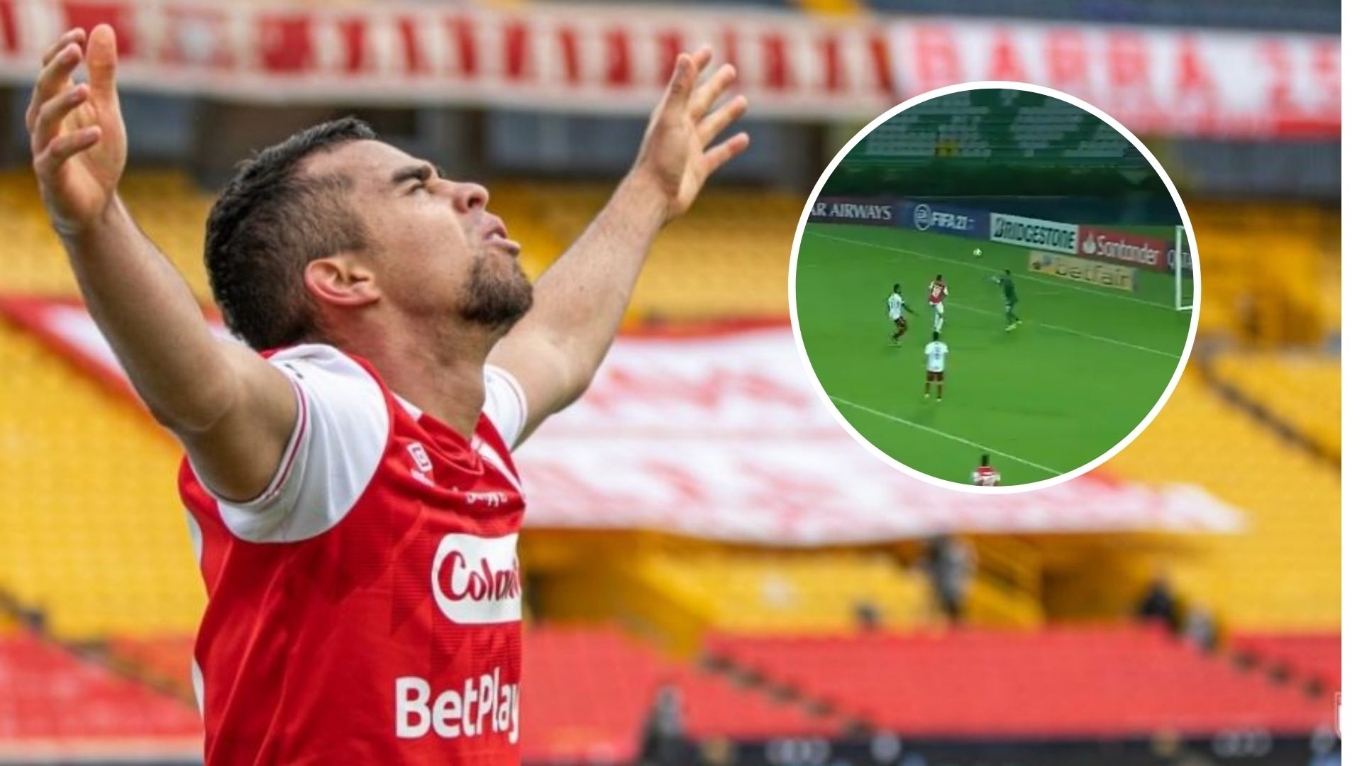 Gol de Daniel Giraldo con Santa Fe vs. Fluminense, entre los mejores de la semana de Libertadores