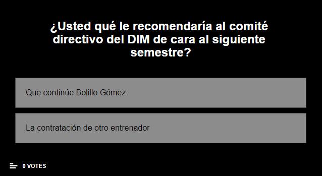 Hinchas del DIM: ¿Que continúe Bolillo Gómez o contratación de otro DT para 2021-II?