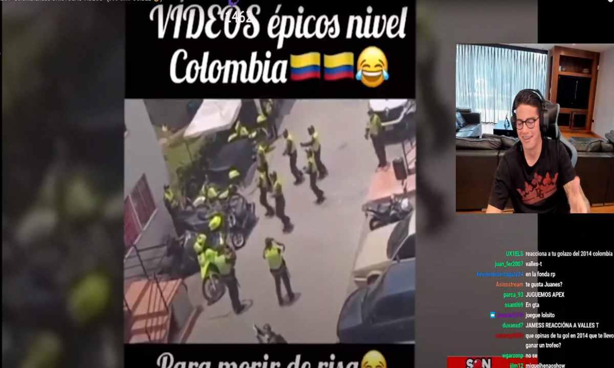 James Rodríguez y su burla hacia la Policía de Colombia