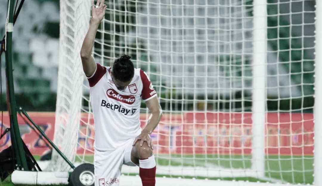 Kelvin Osorio, goleador de Santa Fe en la Liga BetPlay y ahora en Libertadores